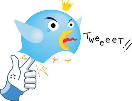 Social network parody - Like Revenge   by stabbing Bird Stock Vector - 12996115