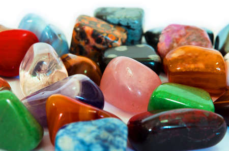 Various stones, minerals, gems, that contain spiritual force human believes  photo