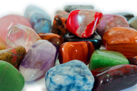 Various stones, minerals, gems, that contain spiritual force human believes  Stock Photo - 13243415