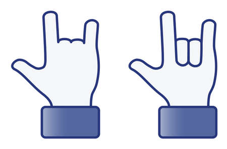 teenagers love: Hand symbol---Love 2D (vector) Illustration