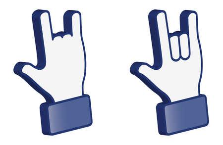 Hand symbol---Love 3D (vector) Stock Vector - 13277410