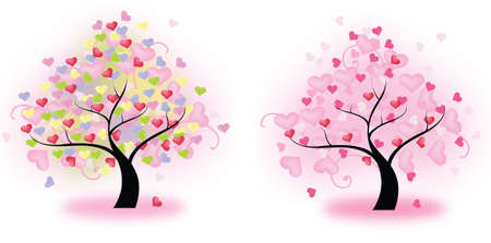 Tree of Hearts  vector ---Best quality Vector