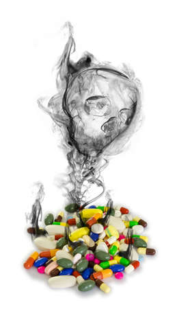 sobredosis: Peligro de las drogas aisladas Foto de archivo