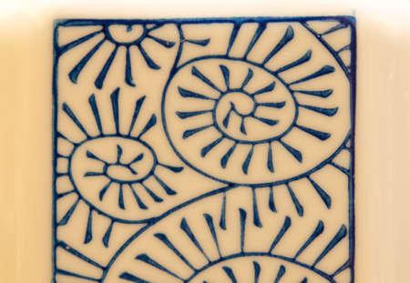Closeup of a Chinaware pattern photo