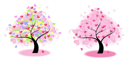 Tree of Heart (vector) --- Blend mode (no drop shadow, gaussian blur, and other bitmap effect) Vector