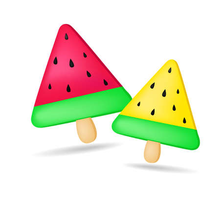 Melon Ice cream for kids Vector