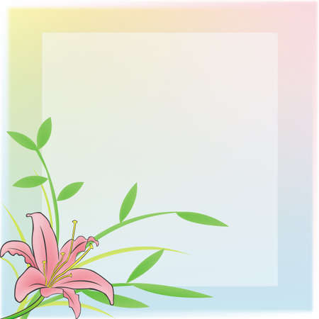 A plain notepad for everyone to use with a pink Lily and rainbow frame. Vector