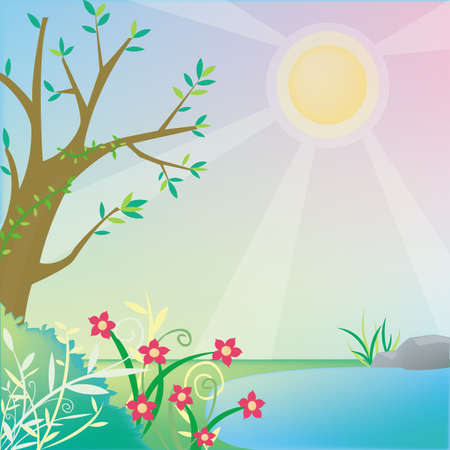 Forest background with empty space create Stock Vector - 14768583