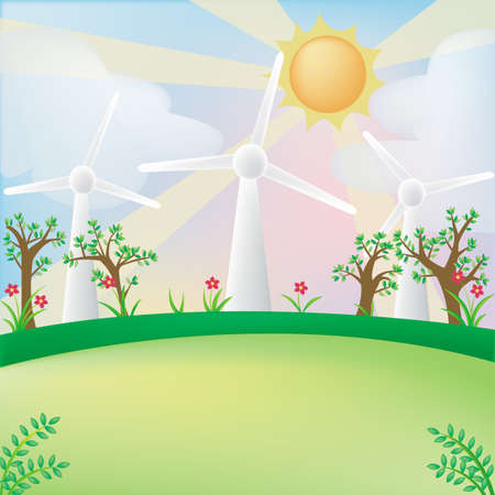 Green energy background with empty space Vector