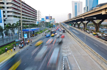 speed line: Highway velocit� di linea-statica e dinamica, nella citt� di Bangkok
