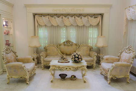 guest house: A living room with a luxurious and classical style (Final)