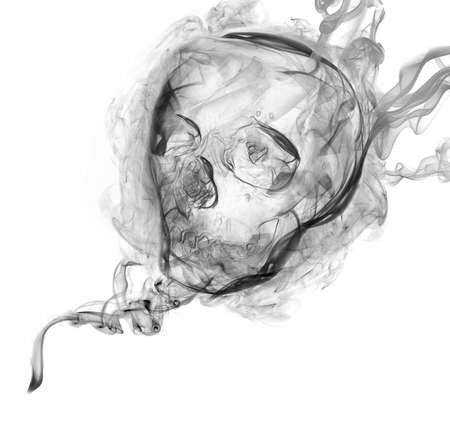 Smoke of Death 1  Smoke in the shape of human skull, represent death Stock Photo - 15239192