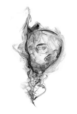 Smoke of Death 2  Smoke in the shape of human skull, represent death Stock Photo - 15239193