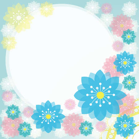 Colorful flower scrapbooking and notepad for everyone to use.  Vector