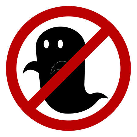 unwelcome: No ghost allowed sign, create by vector Illustration