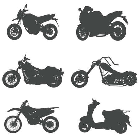 Sets of silhouette motorcycles, create by vector. Vector