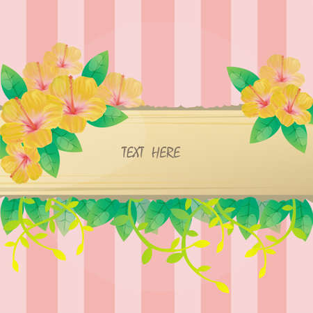 scrapbook frames: Hibiscus Flower pink background and notepad for everyone to use.