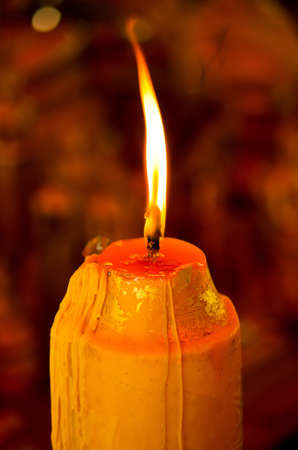 light source: Light of candle in the dark room
