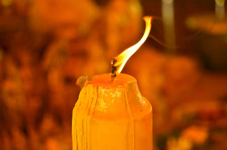 Flame movement in the candle in the dark room Stock Photo - 16683177