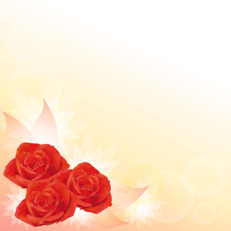 Red roses background, create by vector Stock Vector - 16757487