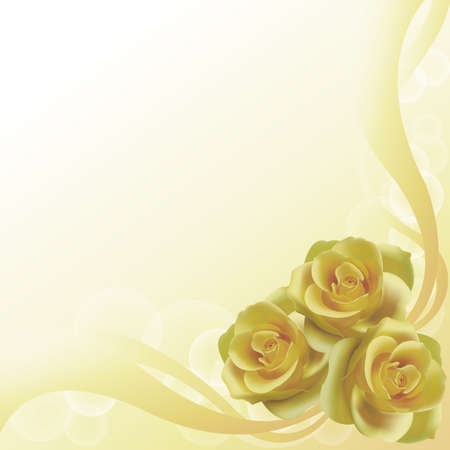 Old yellow roses background, create by vector photo