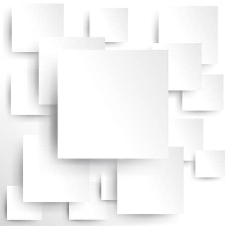 banner effect: Square element on white paper with shadow  Illustration