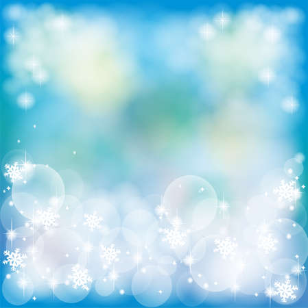 sea star: Deep blue abstract background with bubble and sparkle, create by vector