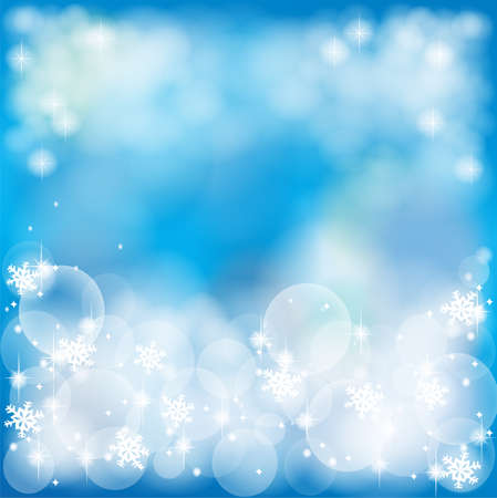 Deep blue abstract background with bubble and sparkle, create by vector Vector