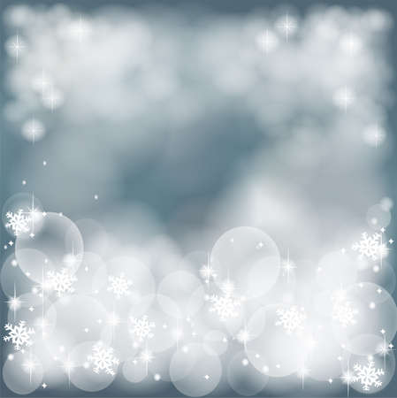 Misty winter abstract background with bubble and sparkle, create by vector Stock Photo - 17103854