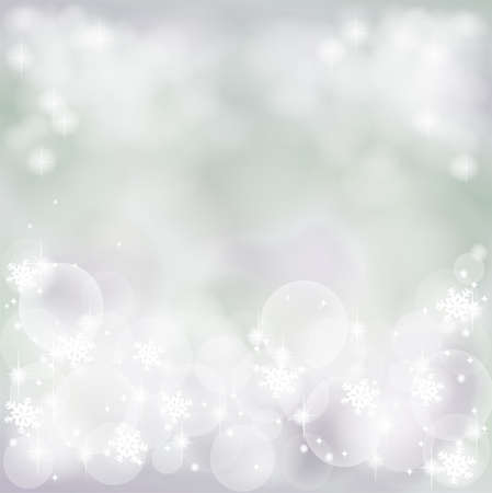 Winter abstract background with bubble and sparkle Stock Photo - 17127074