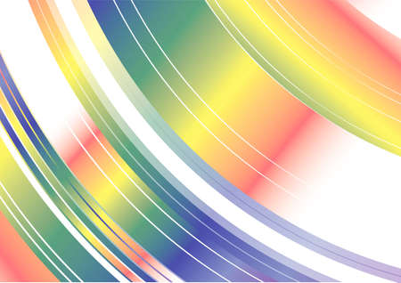 Rainbow Spinning Abstract Backgound Vector