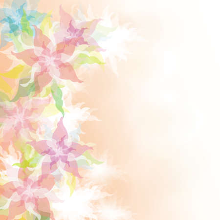 Watercolor Floral background Illustration