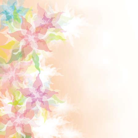 floral: Watercolor Floral background Illustration