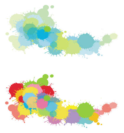 2 colorful splatter set Vector