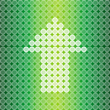Green light Arrow background, create by vector Stock Vector - 17453075
