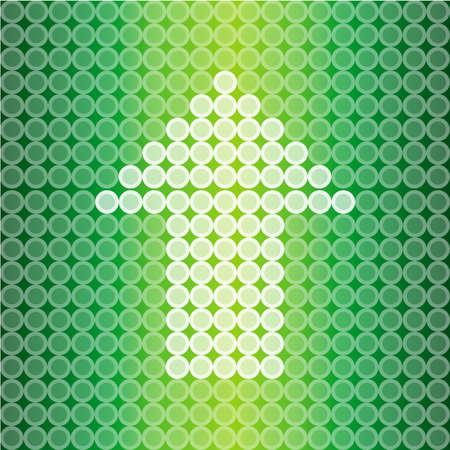 Green light Arrow background, create by vector Stock Vector - 17453075