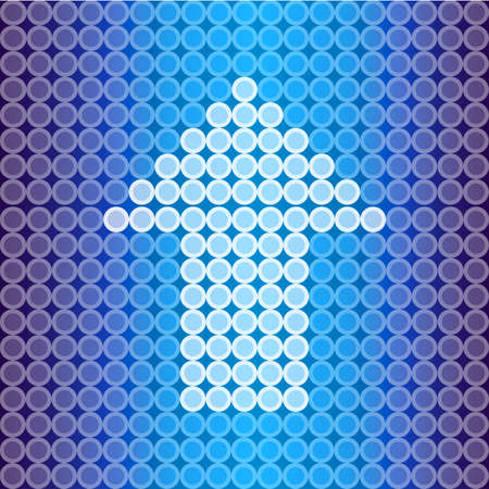 spot lit: Blue light Arrow background, create by vector Illustration