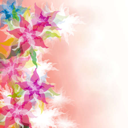 Watercolor Floral background, create by vector photo