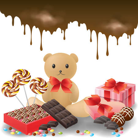 candy bar: Valentine gifts collection, create by vector