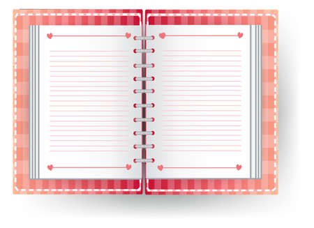 personal organizer: Love diary with line, create by vector