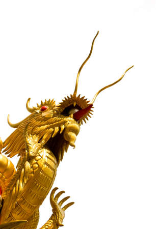 thrusting: Chinese Dragon is thrusting the heaven far above. Stock Photo
