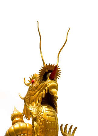thrusting: Chinese Dragon is thrusting the heaven on white background