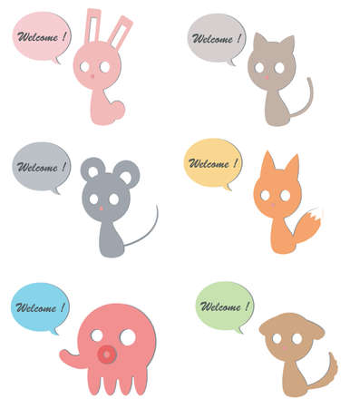 Carboard animals use for welcoming graphics, create by vector Stock Vector - 17794575