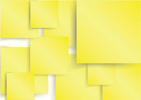 Yellow square element on with shadow, create by vector Vector