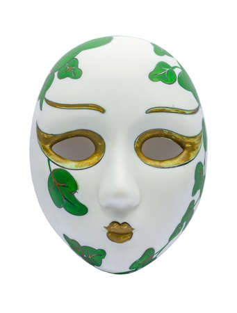 Ancient Opera Mask on white Background Stock Photo - 18084254