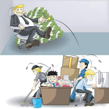 CEO와 직원 사이의 실질 소득 및 워크로드. 삶의 다음 행동은 무엇인가?