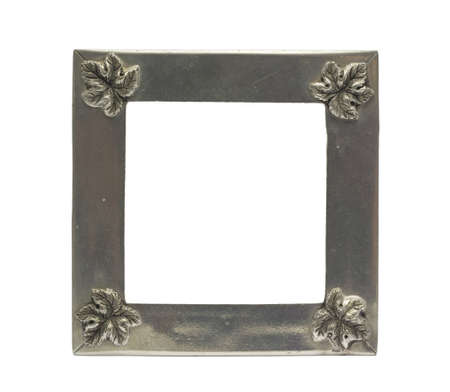 silver maple: Silver Maple Picture Frame in isolated background  It is an antique item