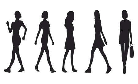 Sets of Stylish Woman Characteristic, create by vector Stock Vector - 18308980
