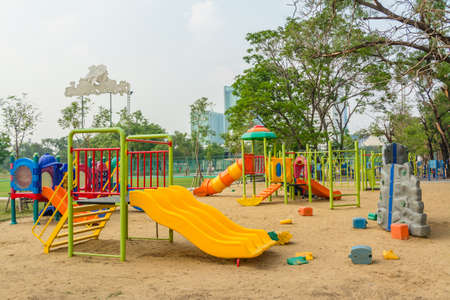 leftover: Childrens playground leftover in the park Stock Photo