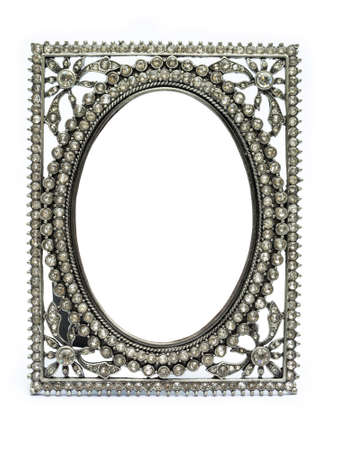 Ancient picture frame made odf jewel and silver photo